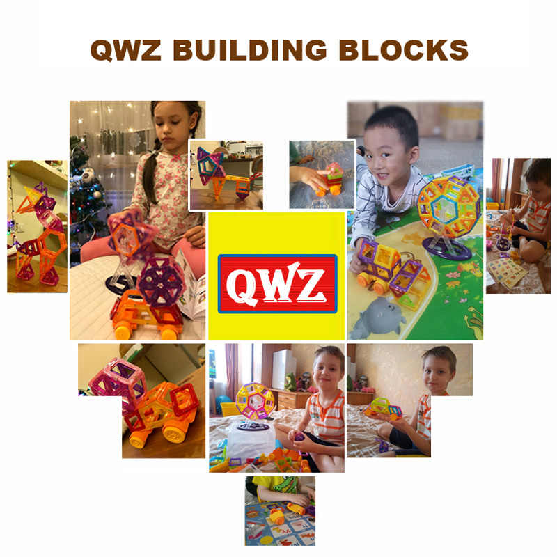 QWZ 252 pcs Blocos Magnéticos Mini Modelo de Construção Designer 3D Magnético Blocos Magnéticos Brinquedos Educativos Para Crianças Kid Presente