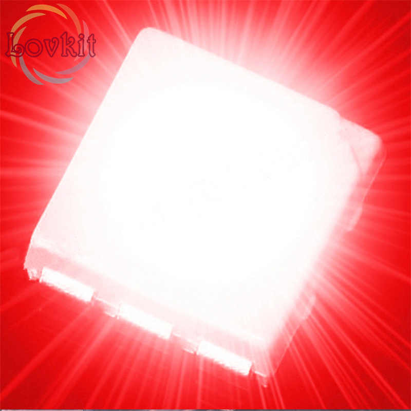 10 x Red 5050 PLCC-6 SMD SMT LED Chip