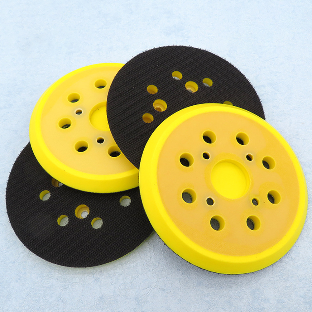 125mm 8 Hole Self Adhesive Woodworking Wear Resistance Polishing Pad Sanding Disc Backing Plate Abrasive For Electric Grinder