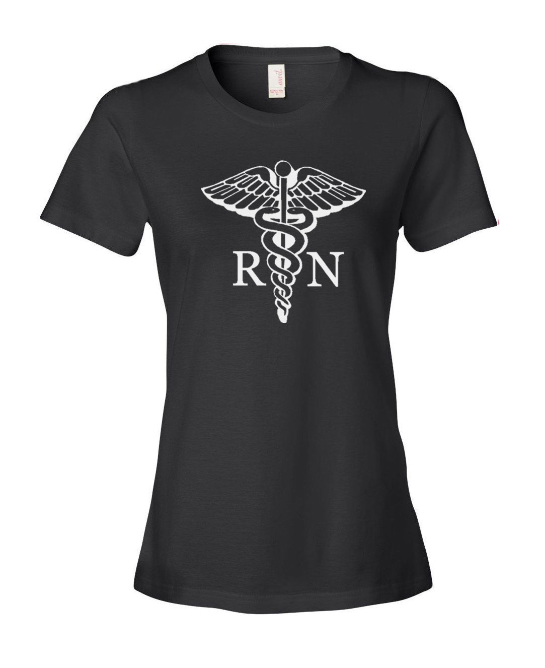 New Fashion T Shirt Graphic Letter Short O-Neck Compression Womens Rn Registered Nurse T Shirts