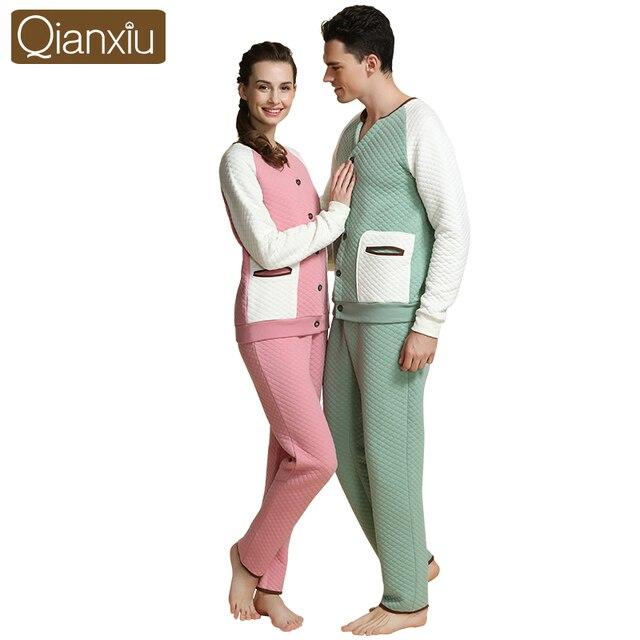 Alta Calidad pijamas establece invierno gruesa mujer pijamas suave forro polar ropa de Hombre y mujer a casa mañana vestido 1555
