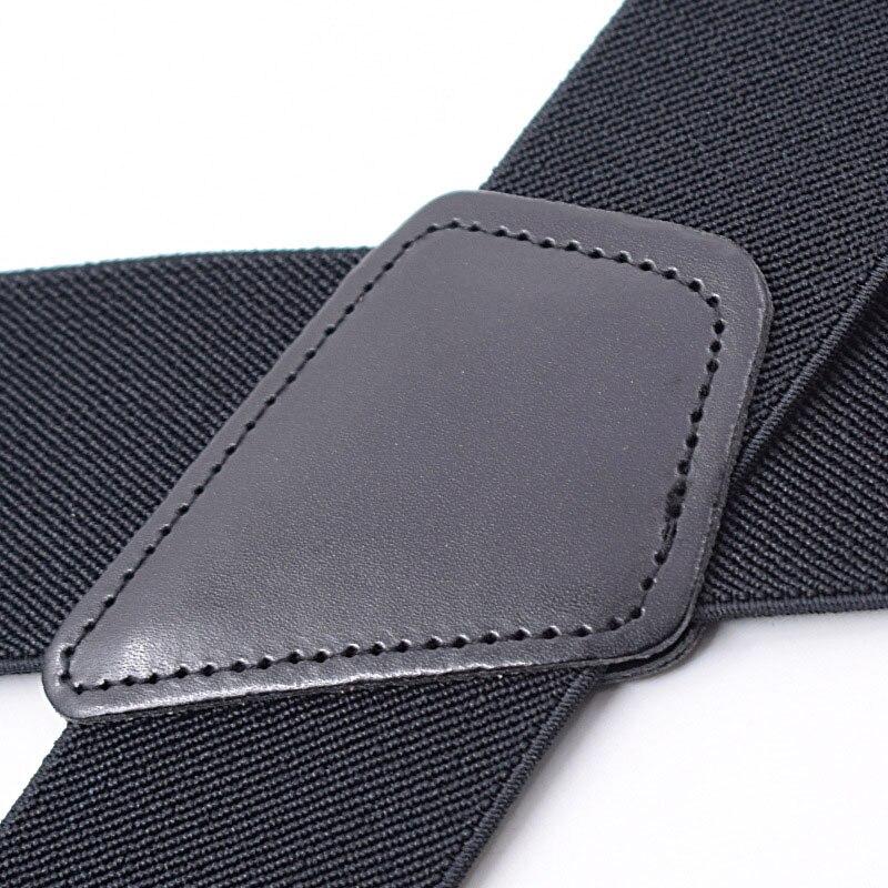 Trouser Braces Metal-Clips Suspenders-X-Shape Wide Cinturones Adjustable Elastic 50mm