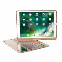 7 Colors Backlit Light Wireless Bluetooth Keyboard Case Cover For IPad Pro 10 5 New 2017