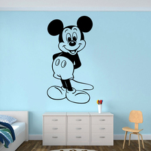 Mickey Mouse Wall Poster Cartoon Character Sticker Nursery Decor Cute Mural Removable Wallpaper AY1397