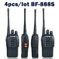 4 шт./лот Baofeng bf-888s Двухстороннее Радио bf-888s Walkie Talkie Двухдиапазонный 5 Вт Ручной Pofung 400-470 МГц UHF Радио Сканер