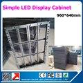 Простой железный шкаф для светодиодных дисплеев 960*640 мм для p10 p5 led sign