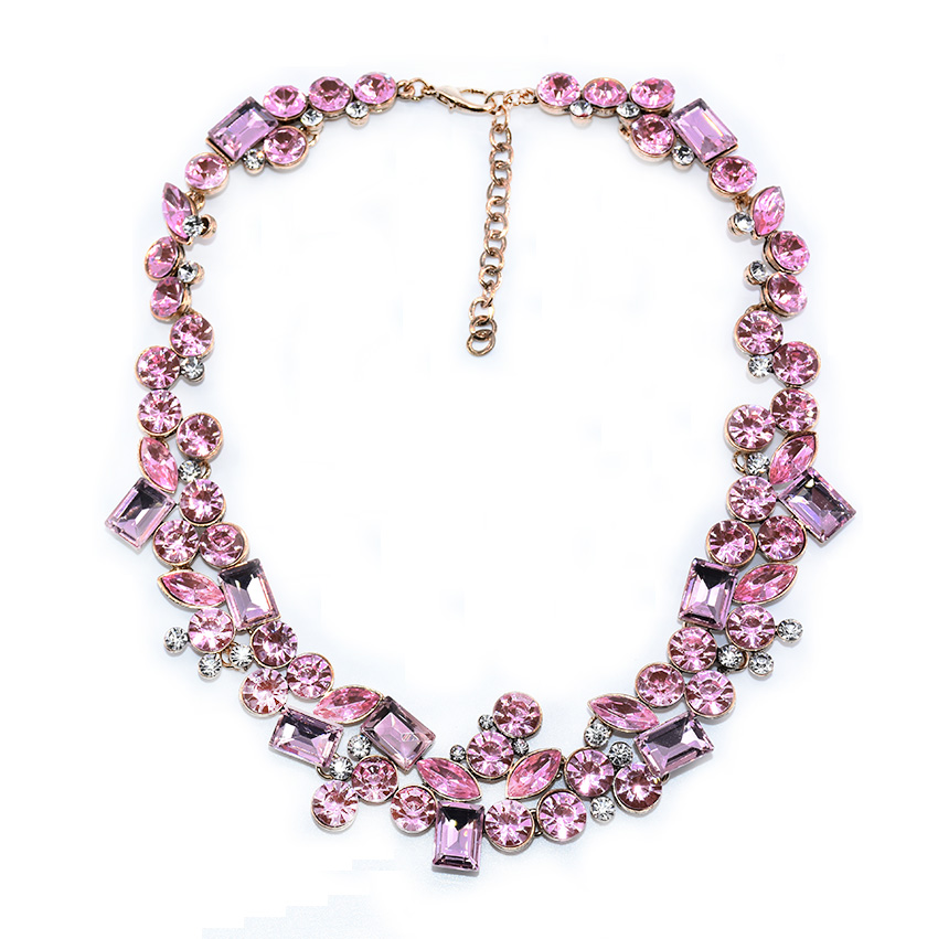 2016 New Design Z Collares Red Rhinestone Necklace...
