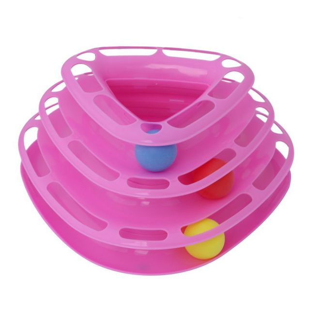 """Ball Tower"" Interactive Cat Toy"