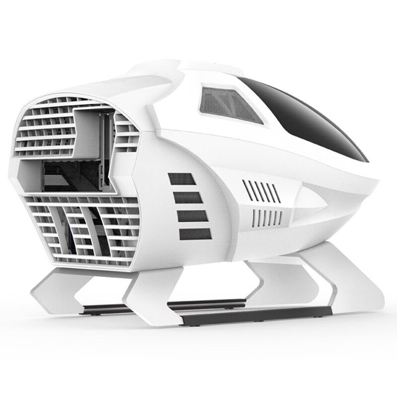 600*395*395MM Segotep EDI DIY Airplane shaped Gaming Computer PC Case Transparent Mini Matx/ITX Silent Water Cooling host Box 2