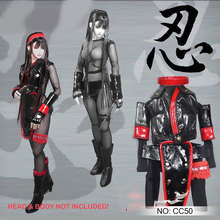 1/6 Japanese Female Ninja Clothes with Gloves for 12'' Action Figures Bodies цена в Москве и Питере