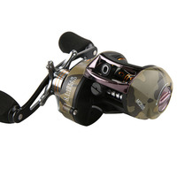 2019 New Camouflage 8.1:1 High Speed Baitcasting Fishing Reel Left Right Hand Trout Bass Catfish Squid Dog Fish Bait Lure Wheels