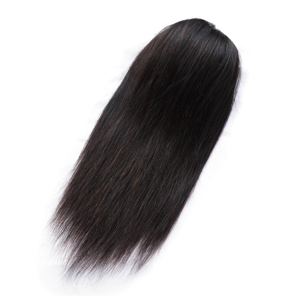 Queue de cheval droite 100% cheveux humains cordon queue de cheval avec des Clips dans les cheveux naturels brésilien Non Remy cheveux 1 pièce Extensions