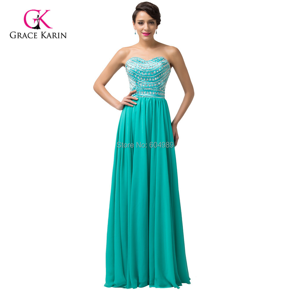 Attractive Light Sea Green Chiffon Sequins Beaded Formal Evening ...