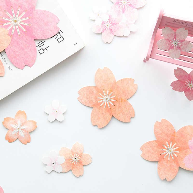 1 חבילה דובדבן פריחת Kawaii מדבקות מכתבים Adesivos יומן חמוד יומן פרח מדבקות רעיונות ספר