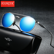 Unisex Classic Brand Men Women Aluminum Sunglasses HD Polarized UV400 Mirror Male Sun Glasses Oval For Eyewear with