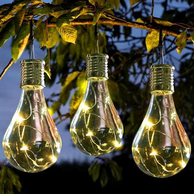 Colorful Solar Garden Light Outdoor Decoration Led Bulb