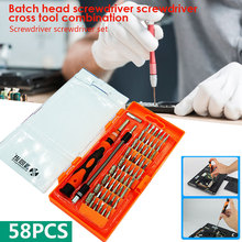 Multi Function Screwdriver Repair Tool Disassemble 58 in 1 Orange Durable Practical Hand Operated Tools laoa 4 in 1 multi function module network punching tools punch down impact tool with wire insertion cutting function screwdriver