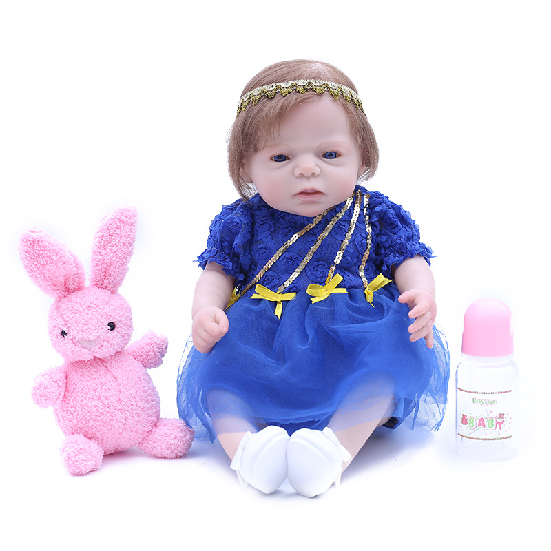 Soft full Silicone 20 Reborn Baby Doll Fashion Realistic Baby Alive Dolls Handmade Toys birthday bedtime play house presentsSoft full Silicone 20 Reborn Baby Doll Fashion Realistic Baby Alive Dolls Handmade Toys birthday bedtime play house presents