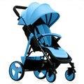 Luz portátil dobrável carrinho de Mão guarda-chuva carro carrinho de bebê bebê verão e inverno pode sentar ou deitar