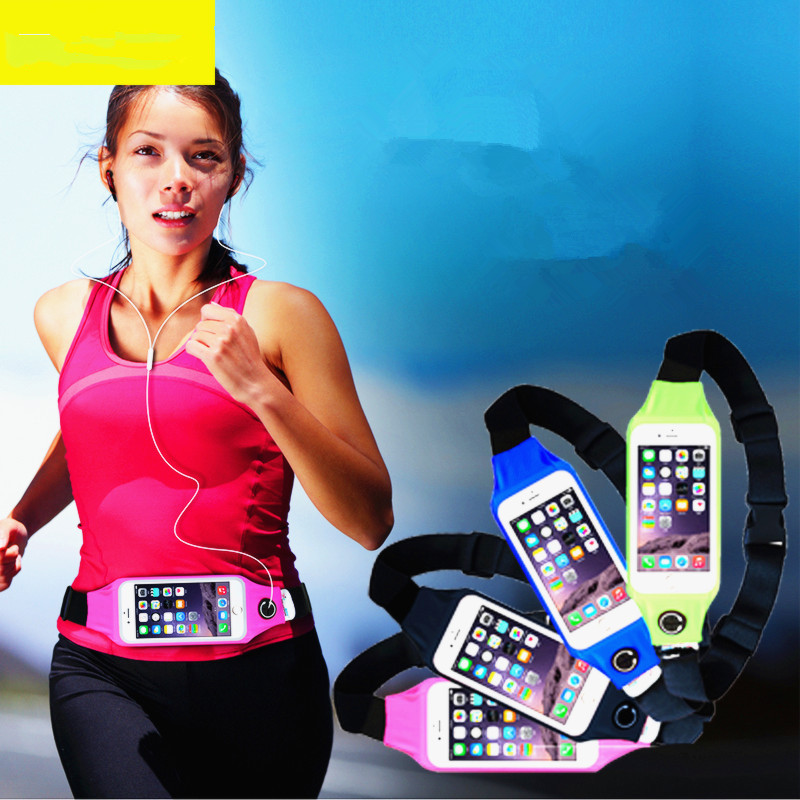 1PC Useful Sport Accessories Gym Waterproof  Waist Bag Belt Pouch Mobile Phone Case For IPhone 6 6s 7 8Plus 5 5s 5c SE Cover 7