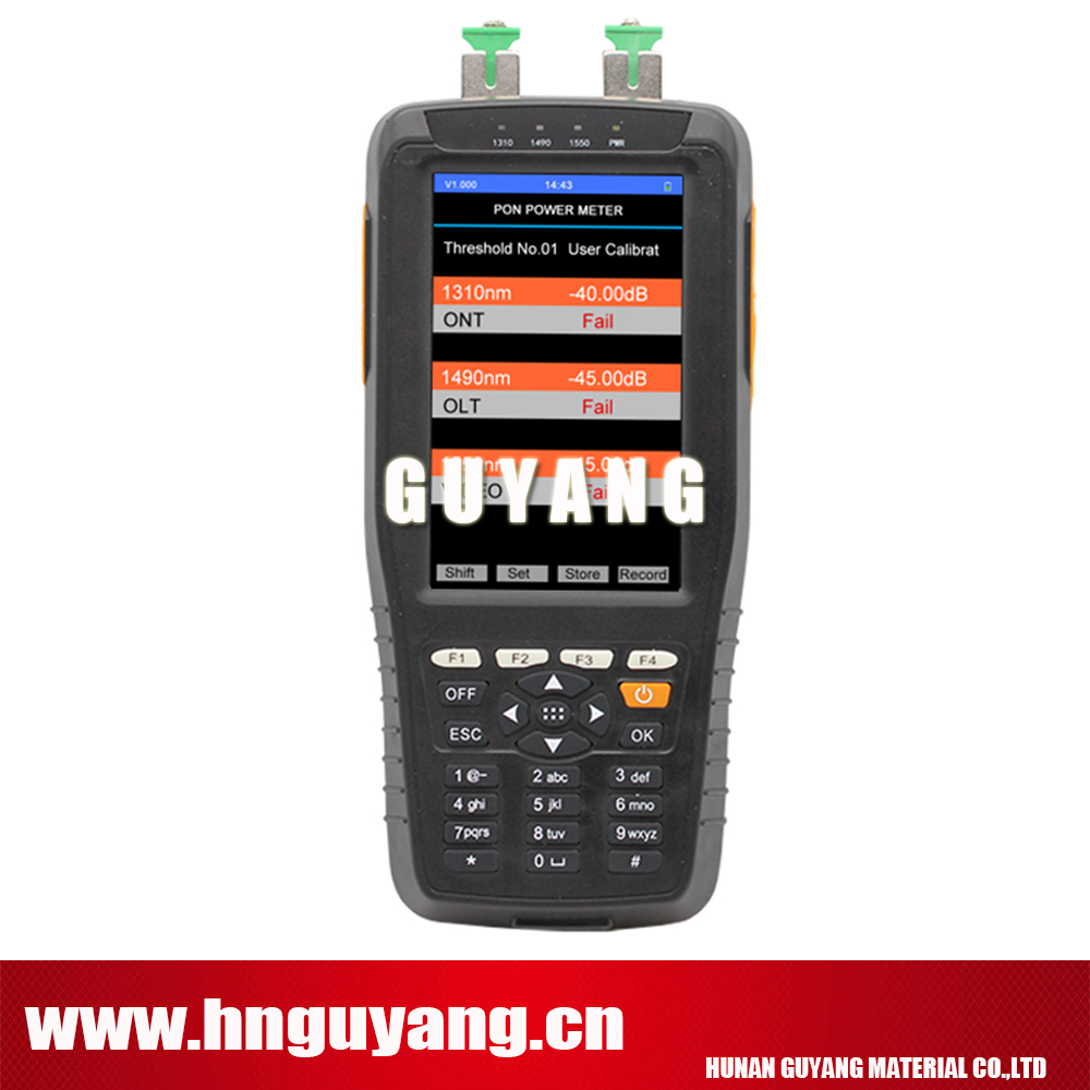 GUYANG HN70B ov1 PON Power Meter pon test instrument with 1MW VFL Optical power meter 850