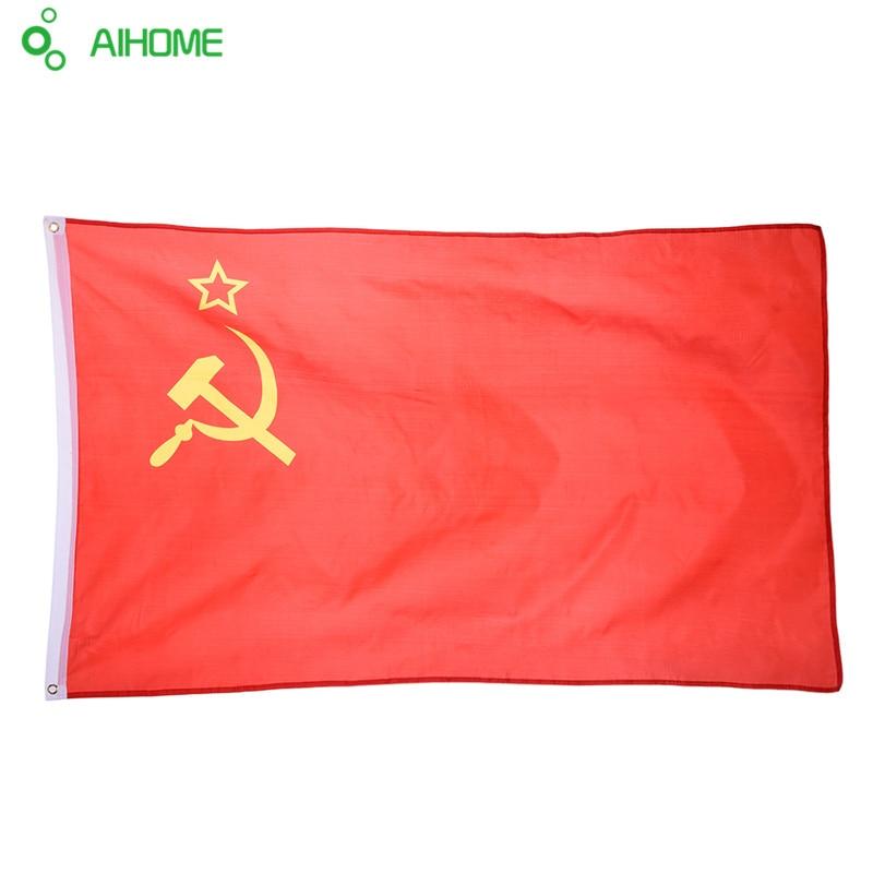 Flamuj dhe flamuj të Ussr 90 * 150 cm Flamuj të Dekorimit të Flamurit të varur Aktiviteti për Festivalin Ngjarjet Historike