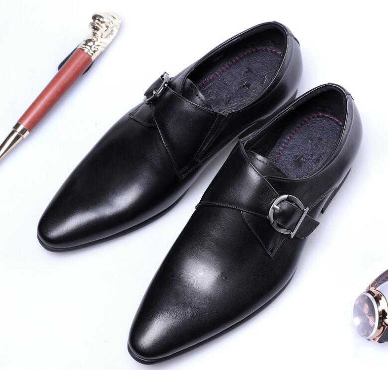 Nova Moda Dos Homens Sapatos De Couro Homem Plana Clássico Italiano Sapatos Formal Dos Homens Se Vestem Sapatos De Couro Homens Oxford Plus Size 38 -48