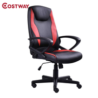 COSTWAY Racing Computer Gaming Chair Armchair Executive Chair High Back Lift Chair Swivel Chair Office Furniture HW52439