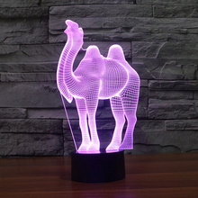 Novelty Color Changing led Light Camel Design luminaria Table Desk Lamp Night Light Novelty Bar Bedroom Home Lamps