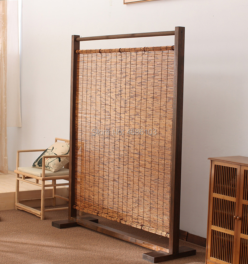 Chinese style Natural Reed wood screens folding curtain room screens outdoor divider screens room for Hotel Coffee Tea RoomChinese style Natural Reed wood screens folding curtain room screens outdoor divider screens room for Hotel Coffee Tea Room