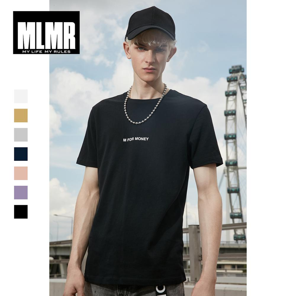 MLMR Men's 100% Cotton T-shirt Letter Printed T Shirt 2019 JackJones New Brand Menswear 219101534