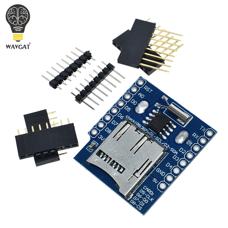 Real Time Clock Data Log Logger Shield for Micro SD WeMos WIFI D1 Mini Board +RTC DS1307 Clock For Arduino Raspberry