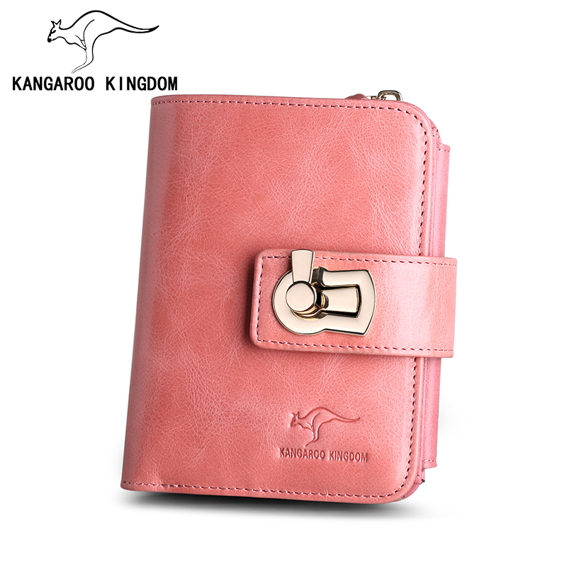 KANGAROO KINGDOM fashion luxury brand women wallets genuine leather hasp lady purse card holder with zipper coin pocket color block kangaroo pocket hoodie with sweatpants
