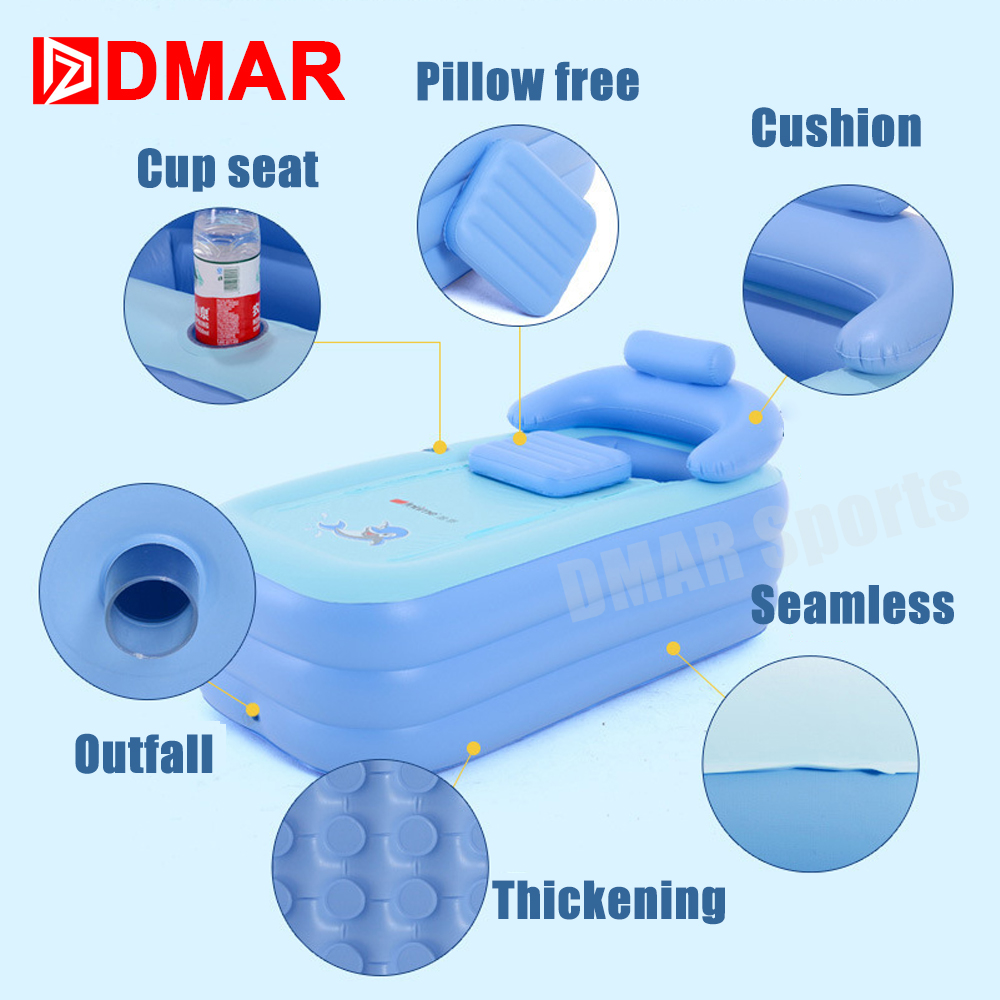 DMAR Swimming Pool Inflatable Bathtub For Kids Infants Children Water Toys Baby Bathing Pool Durable Warm High Quality 2017 NEW popular best quality large inflatable water slide with pool for kids