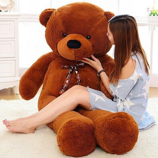 2018 Nueva llegada 220 CM / 2.2 M grande grande gigante oso de peluche suave felpa rellena niño muñecas del bebé de tamaño natural suave oso