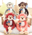 Super cute 1pc 70cm cartoon fairytale long arm leg monkey festival plush doll creative stuffed toy children Valentine's Day gift