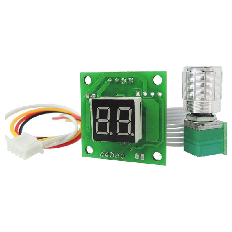 6V-28V 10A Motor Electronic Pump Fan Speed Control Module with Digital Display,green digital display motor speed watch strap speeding alarm electronic tachometer sensor measurement speed