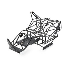 1/10 Scale RC Metal Frame Roll Cage with Inner Parts Rock Crawler Body Black Chassis Climbing Truck Parts SCX10 5t 5sc metal roll cage edition green roll cage with body for 1 5 hpi baja 5t 5sc rovan kingmotor car