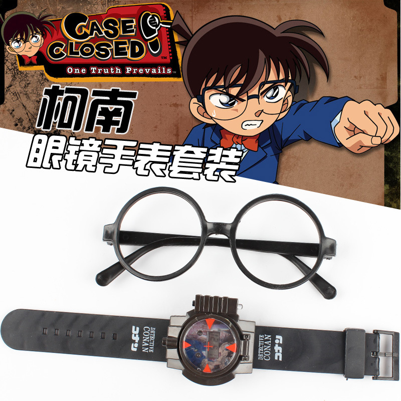 Watch Halloween 2 Online ali g indahouse 24cm Apanese Anime Props Super Detective Conan Watch And Glasses Halloween Party Cosplay Props Conan Show