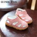 CONEJILLOS de indias de la Marca Niño Niña Sandalias de Cuero Niños Respirables Del Verano Zapatos de Bebé de Cuero Suave de Alta Calidad Para Niños Niñas Sandalia