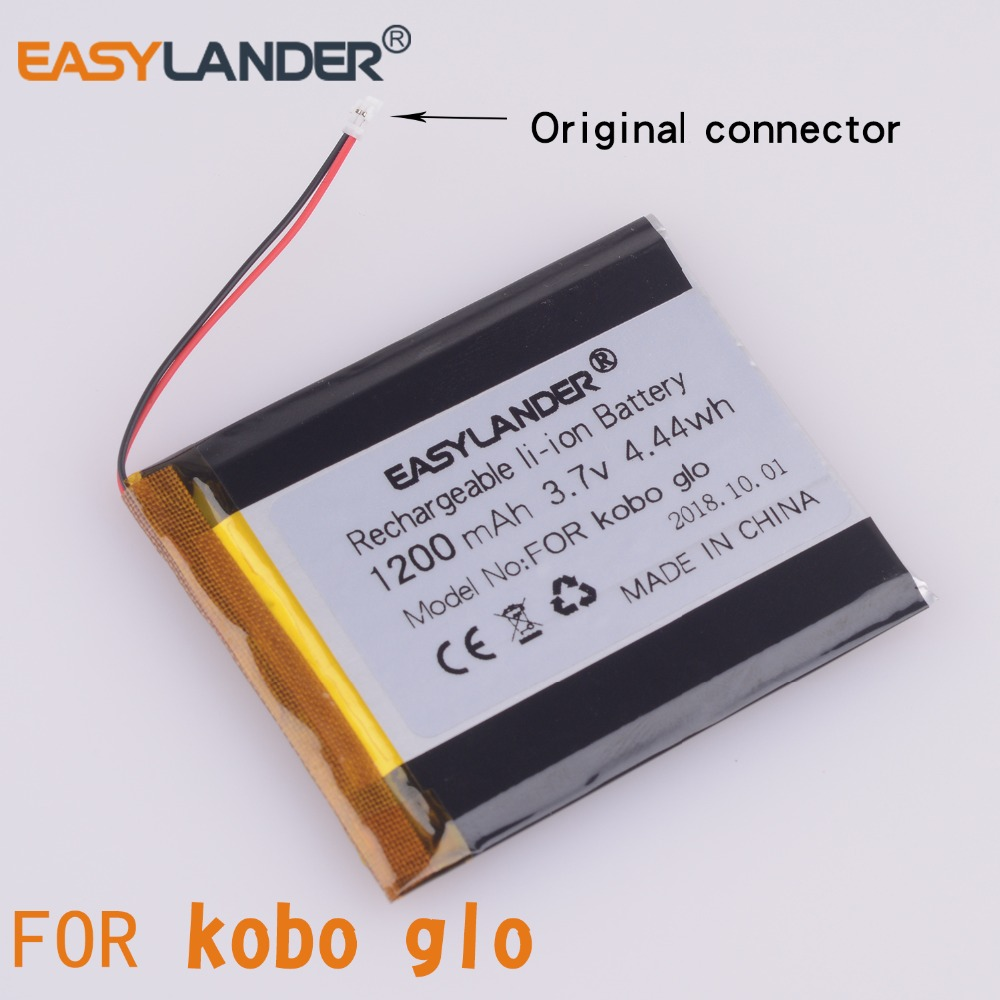 3.V 1200mAh  Rechargeable Li Polymer Li-ion Battery For E-book Reader Kobo Glo Battery  N613 Battery E-ink  With Connector