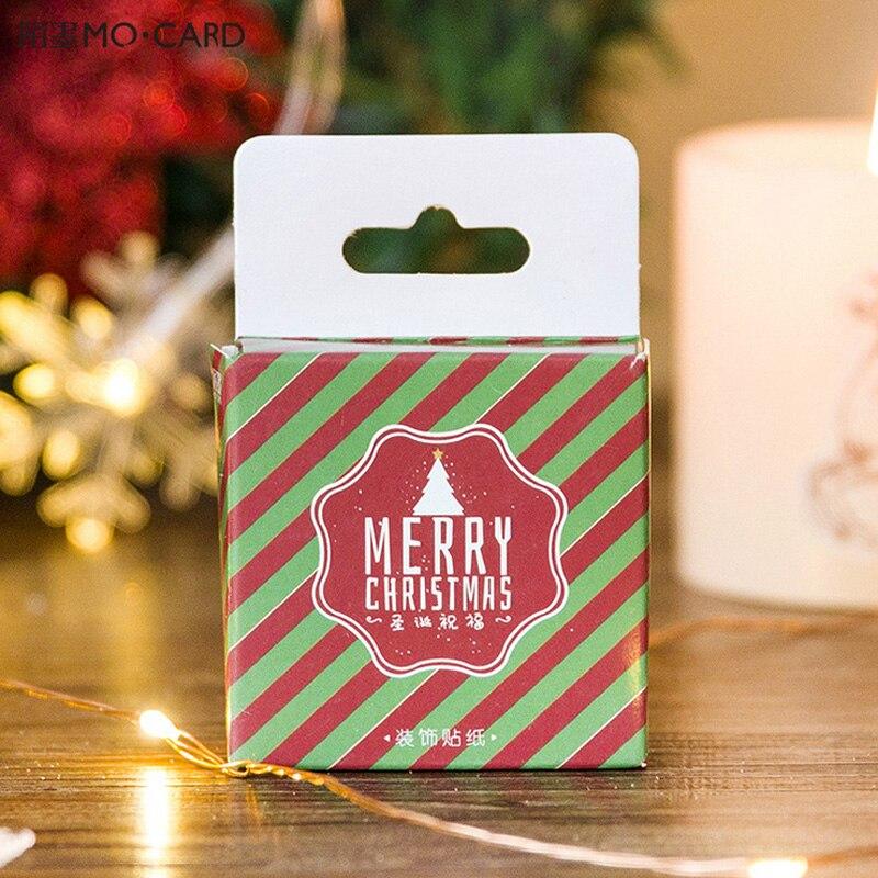 45 pcs/ Christmas greeting mini paper sticker decoration DIY diary scrapbooking seal sticker kawaii stationery