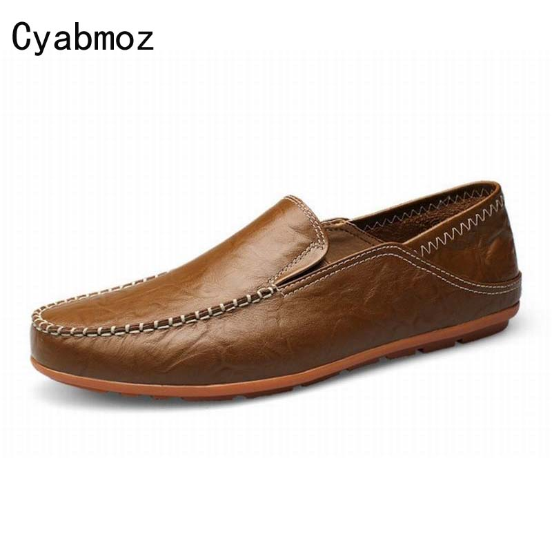 New Men Driving Loafers Casual Walking Genuine Leather Shoes  Male Soft Flats Classic Moccasins For Men Oxfords Slip-on 2017 autumn fashion men pu shoes slip on black shoes casual loafers mens moccasins soft shoes male walking flats pu footwear