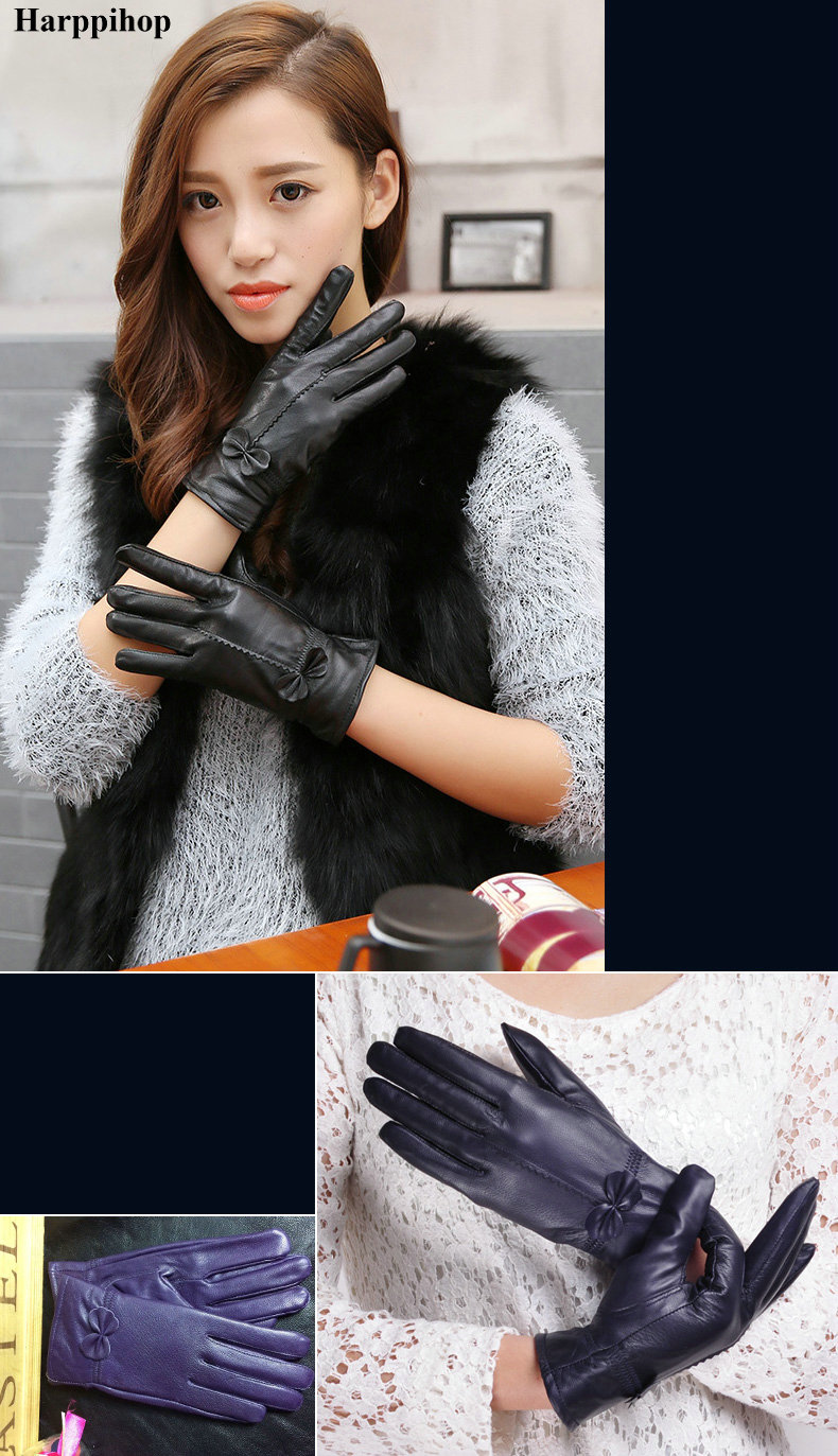 HTB1sHsVPXXXXXbKaXXXq6xXFXXXP - women's genuine leather gloves red sheepskin gloves autumn and winter fashion female windproof gloves