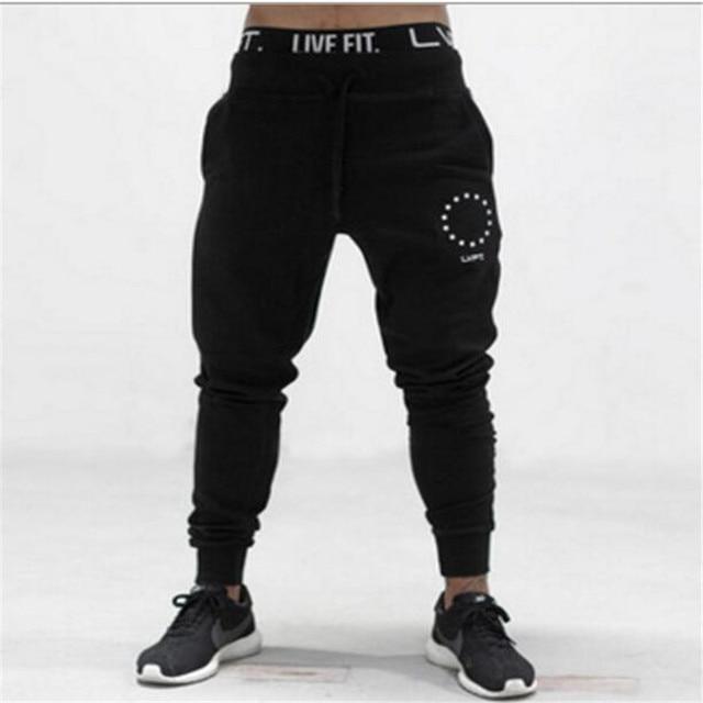 Бесплатная доставка 2016 новая мода развивать нравственность досуг бренд мужской брюки тренировочные брюки мужчины брюки сжатия бегунов мужчины