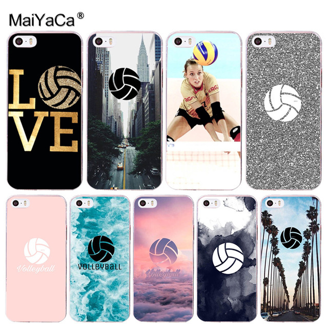 official photos 57721 db14b US $1.25 37% OFF|MaiYaCa Volleyball Sports Painted cover Colourful Style  Design Phone Case for Apple iPhone 8 7 6 6S Plus X 5 5S SE 5C Cellphones-in  ...