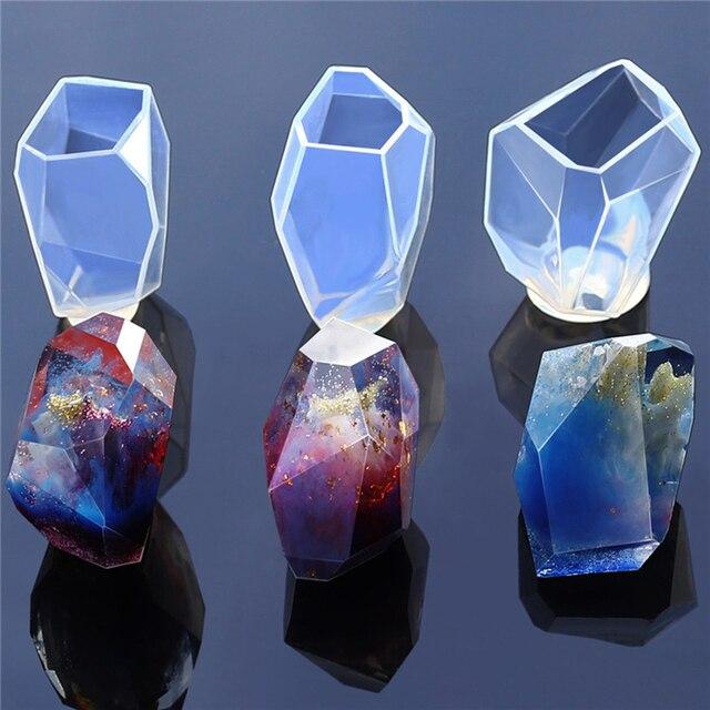 Moldes de sabão de Cristal Irregular Geométrica Jóias Artesanato Fazendo Enfeites de Resina de Silicone Molde de Decoração