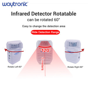 Image 2 - Sensor de movimiento por infrarrojos PIR inalámbrico, Detector automático de inducción, timbre de bienvenida, avisador de voz