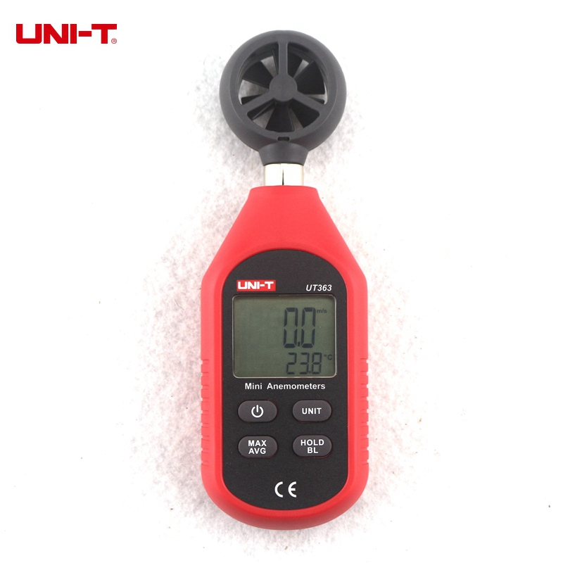 UNI-T UT363 Digital Wind Speed Tester Mini Anemometer 0-30m/s Air Flow Monitor C/F Temperature Meter new arrival massage body health tools body slimming massager losing fat machine promote blood circulation