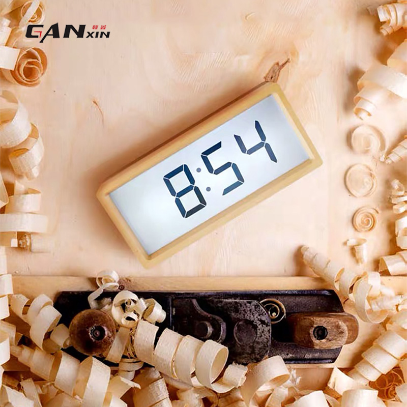 [Ganxin]  Smart digital table alarm clock electronic desk wooden clock[Ganxin]  Smart digital table alarm clock electronic desk wooden clock